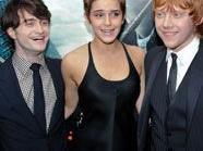 Daniel Radcliffe, Emma Watson and Rupert Grint auf der Premiere