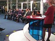 Die Diskussion in der Wiener Hauptbücherei wurde weltweit ausgestrahlt.
