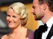 Norwegens Kronprinz Haakon mit seiner Frau Prinzessin Mette-Marit