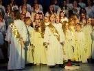 Der himmlische Engelschor erfreute die Besucher mit seinem Gesang.