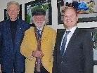 FH-Rektor Rudi Feurstein, Dietmar Wanko und Thomas Lang von der Schoellerbank bei Eröffnung der Ausstellung.