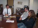 Landesstatthalter Markus Wallner lud zur Diskussion ins Landeshaus und hörte sich die Bedenken von Herrn Ehrhardt an.