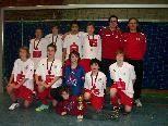 Die U13 des FC Dornbirn überzeugte beim Nachwuchshallenturnier in Bregenz und holte sich den ersten Rang.
