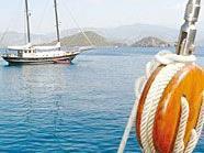 Auf dem Seeweg zur türkischen Küste.