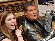 David Hasselhoff mit seinen beiden Töchtern Taylor Ann und Hayley in Wien.