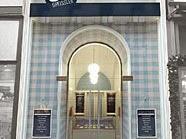 Das Eingangsportal des Eis Greisslers.