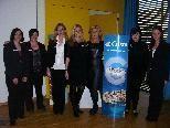 Das fesche Damen-Team von NKG Reisen hieß zahlreiche Besucher bei der Multimedia Show willkommen.