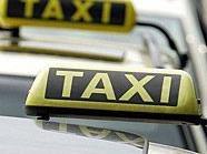 Der Lenker des Taxis kam mit dem Schrecken davon.