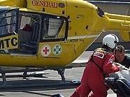 Der schwer verletzte 75-Jährige wurde ins Lorenz-Böhler UKH geflogen.