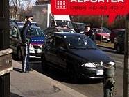 Die Polizei hat das Auto vor der Lugner-City gestoppt.