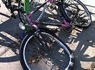 Dieses Fahrrad wurde Opfer eines Vandalenakts.