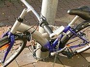 Ein Polizist konnte einen Fahrraddiebstahl verhindern.