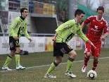 Abwehrspieler Dominik Heidegger will das Sturmduo Stojadinovic und Haslacher in den Griff bekommen.
