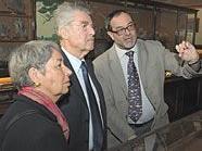 Margit und Heinz Fischer mit Direktor Christian Köberl im Naturhistorischen Museum.