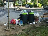 Der Türkenschanzpark glich einer Müllhalde.