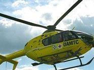 Der Verletzte wurde mit dem Hubschrauber ins Krankenhaus gebracht.