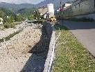 Die Ufermauer der Ache, zwischen Nummerngasse und Egeten, wird saniert.