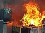 Die Ursache für den Zimmerbrand ist bislang ungeklärt.