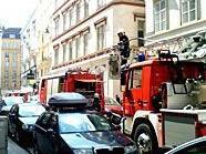 Ein Brand in der Innenstadt führte zu einem Großeinsatz der Feuerwehr.