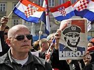 Eine Kundgebung gegen das Kriegsverbrecher-Urteil im Fall gegen die Ex-Generäle Gotovina und Markac wurde abgesagt.