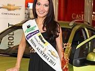 Miss Austria, Carmen Stamboli, geht in ihrer neuen Rolle auf.