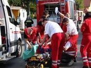 Zwei Kinder und ein Hausbesitzer wurden bei einer chemischen Explosion verätzt