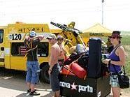 Der ÖAMTC steht beim Nova Rock auch vor Ort und Stelle zur Hilfe.