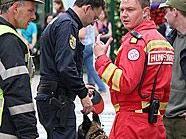 Die Rettungshunde unterstützten die Polizei bei der Suche.