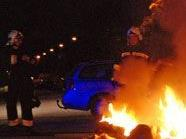Motorrad gerät in Brand