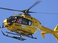 Das Kleinkind wurde vom Rettungshubschrauber ins AKH gebracht.