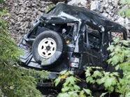 Pkw stürzte in Oberösterreich 120 Meter in die Tiefe