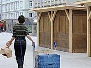 Umzugszeit: Die Marktstandler am Nachmarkt in 1060 Wien beziehen ihre neuen Quartiere.