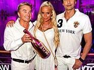Ernst Kirchmayr, Gina Lisa und Marcus Schenkenberg beim Weißen Fest in Linz.