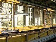 Die Bauarbeiten an der U6-Station schreiten voran.
