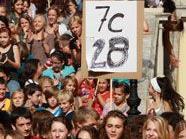 Gut besucht: Der Protest gegen die überschrittenen Klassenschülerhöchstzahlen