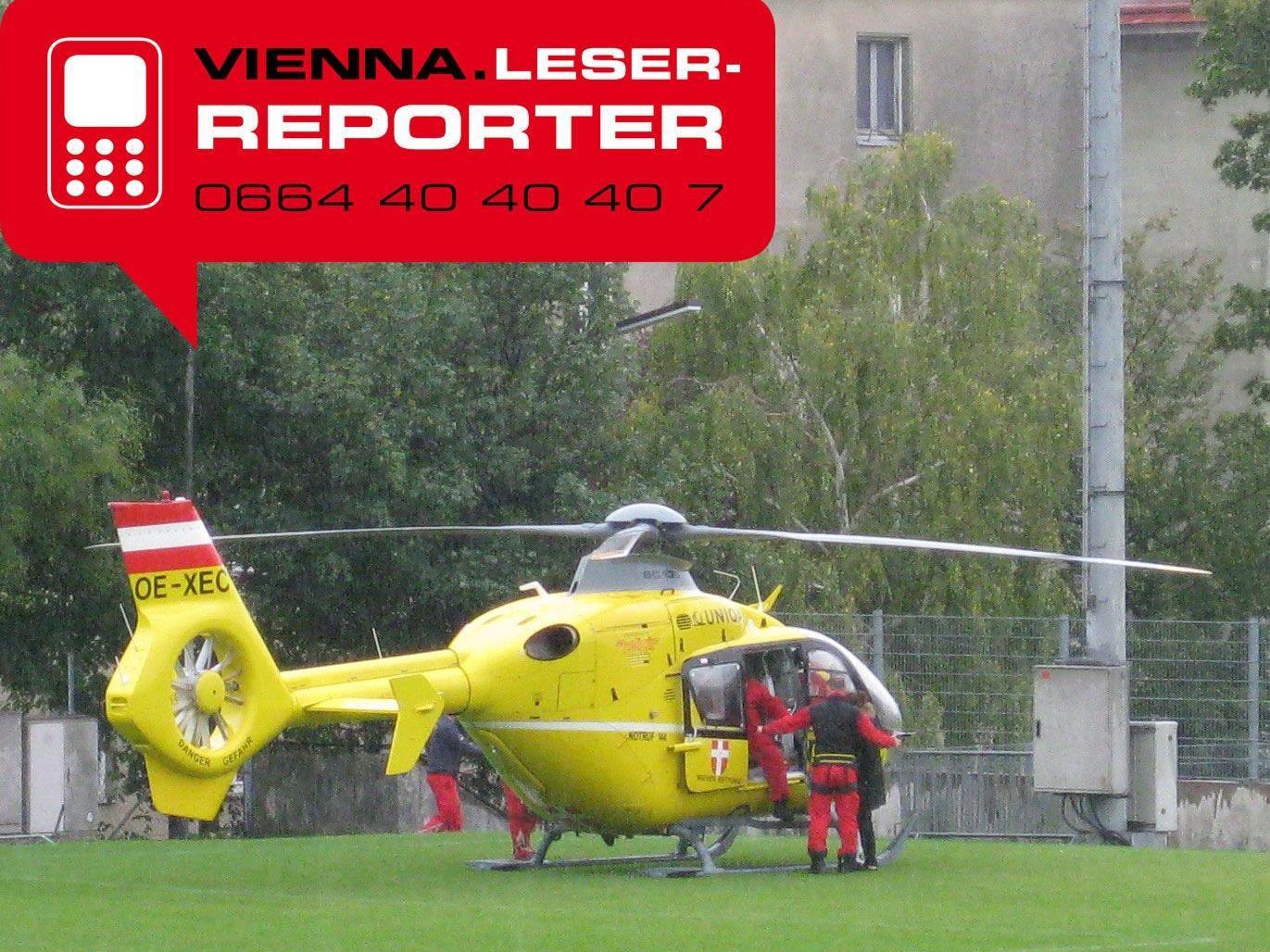 Spektakulärer Heli-Einsatz in Wien-Hütteldorf