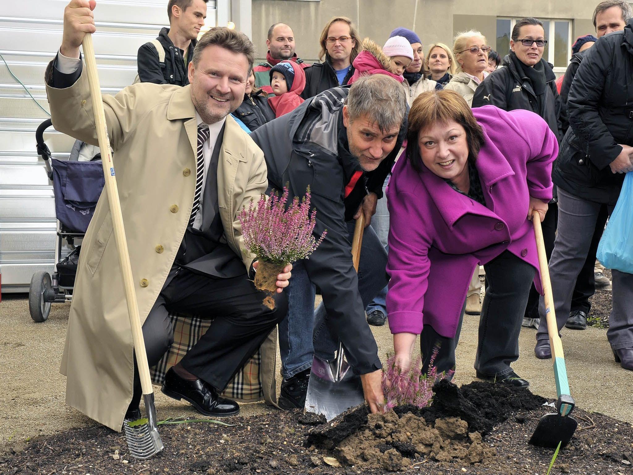 Erster Meidlinger Nachbarschaftsgarten im Steinhagepark eröffnet