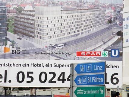 Baubeginn am Storchengrund in Wien