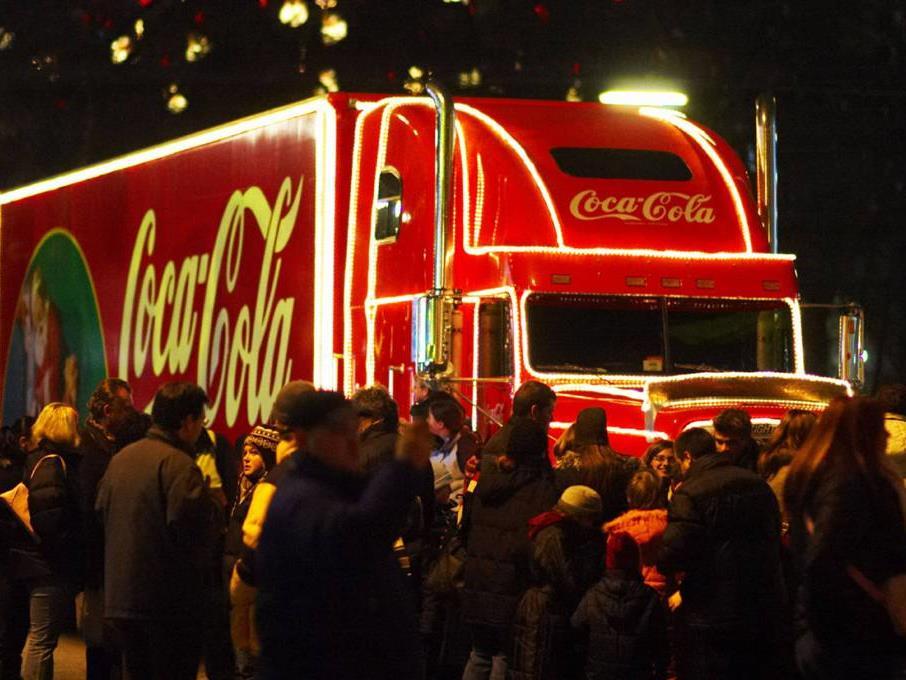 Der Coca-Cola Weihnachtstruck