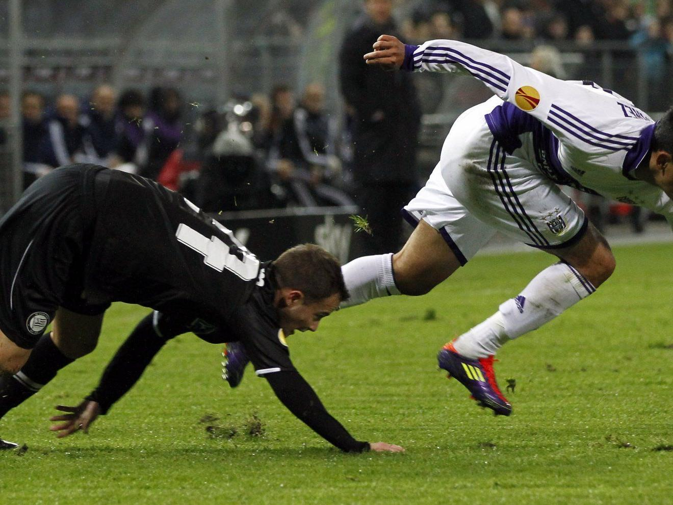 Sturm Graz unterlag RSC Anderlecht in Europa League mit 0:2.