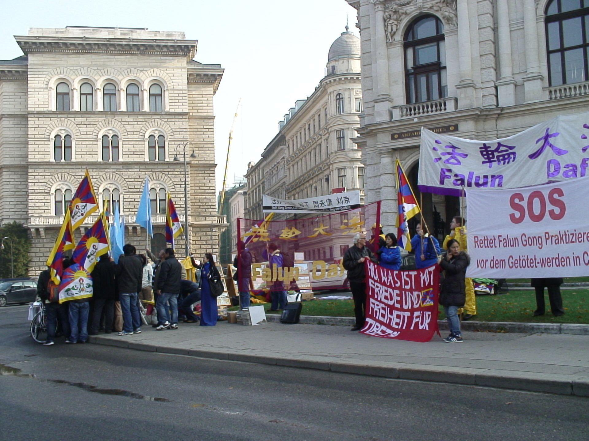 Auch am Montag gab es Proteste von Tibetern in Wien.