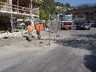 Durch die Bauarbeiten an der Wohnanlage Hintere Achmühle kommt es zu leichten Verkehrsbehinderungen.