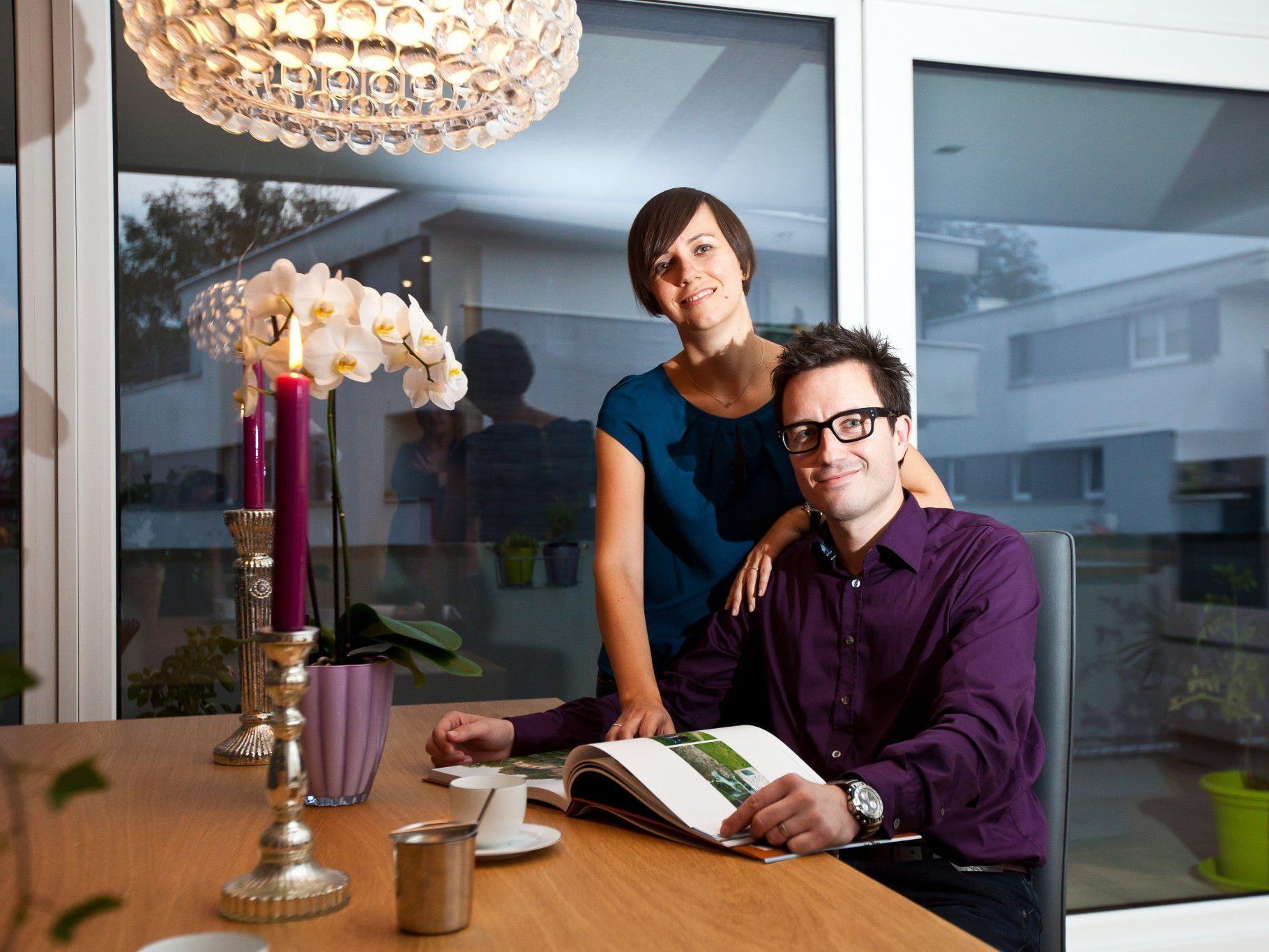 Caroline Degasperi und Sebastian Holaschke haben ihre Traumwohnung in Lauterach gefunden.