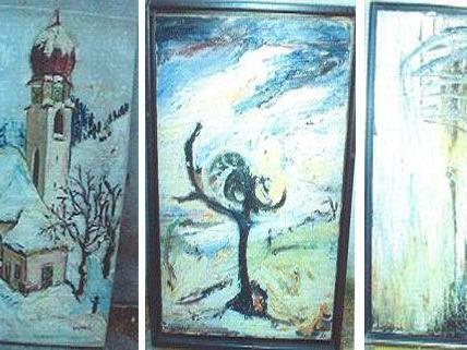 Diese drei Bilder von Soshana fielen unter anderem dem Kunstraub zum Opfer