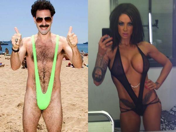 Borat oder Jodie Marsh - wem steht der Makini besser?