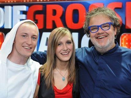 """Nina und Bernhard (beide Bild rechts) bekommen ihre """"große Chance""""."""
