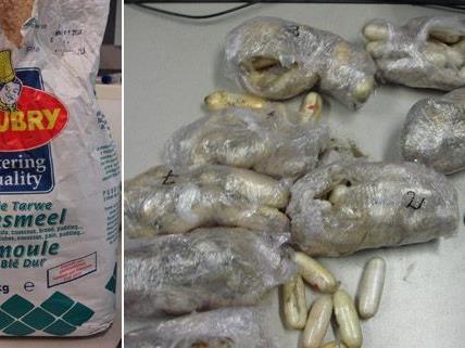 Sieben Festnahmen in Wien: Mehr als 6 Kilo Heroin und Kokain geschmuggelt.