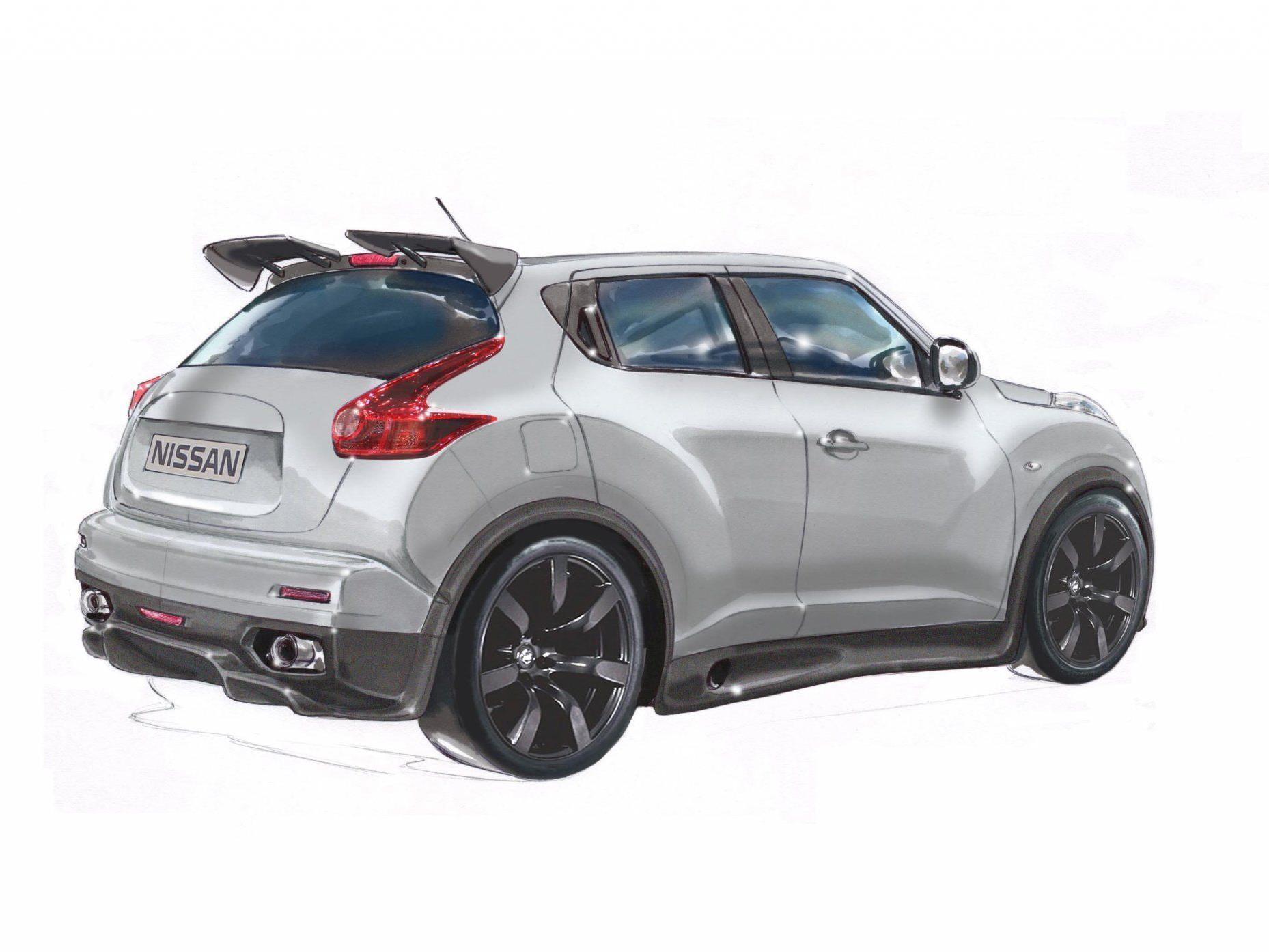 Nissan Juke-R weiß zu beeindrucken