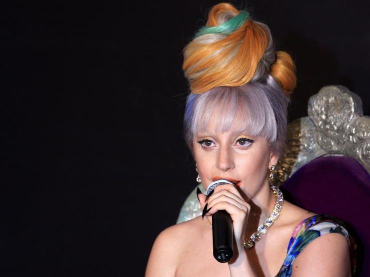 Lady Gaga bei einem Gig in Indien.