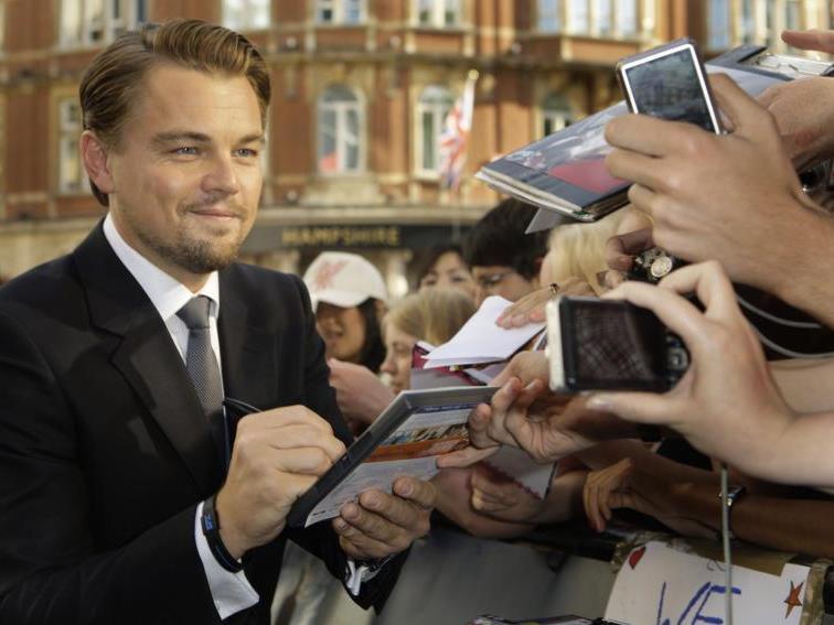 Leonardo DiCaprio wird nicht nur von seinen Fans belagert ...